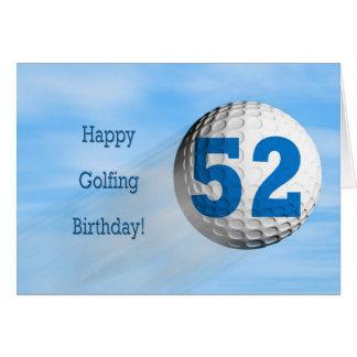 carte jouante au golf de cinquante-deuxième