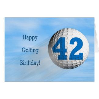 carte jouante au golf de quarante-deuxième