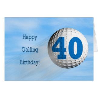carte jouante au golf de quarantième anniversaire