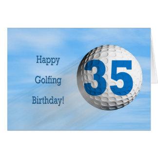 carte jouante au golf de trente-cinquième