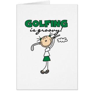 Carte Jouer au golf est super