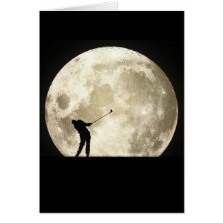Carte Jouer au golf la nuit