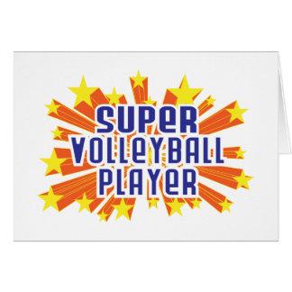 Carte Joueur de volleyball superbe