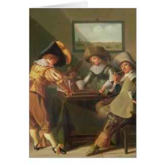 Carte Joueurs de backgammon, XVIIème siècle