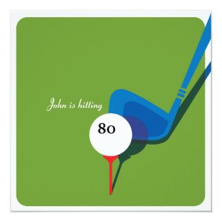 Carte Jouez au golf le quatre-vingtième anniversaire -