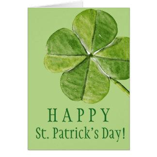Carte Jour chanceux vert de Patrick de saint de trèfle