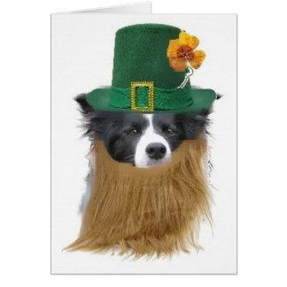 Carte Jour de Dogs~Original Notecard~Saint Patrick Ditzy