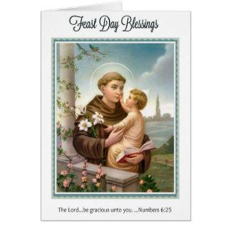 Carte Jour de fête St Anthony d'enfant Jésus de Padoue