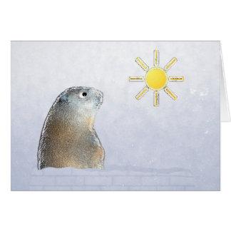 Carte Jour de Groundhog. Croyez-le