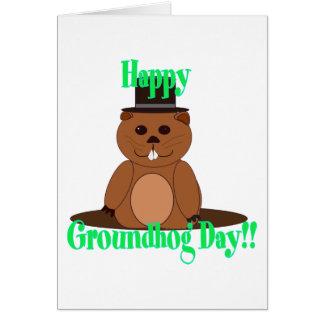 Carte Jour de Groundhog heureux !