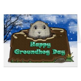 Carte Jour de Groundhog heureux,