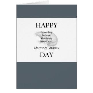 Carte Jour de Groundhog heureux