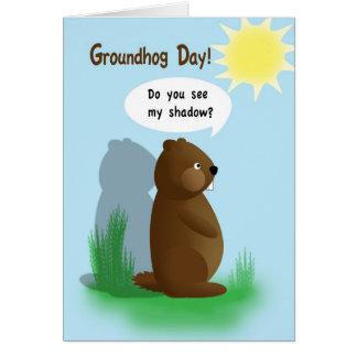 Carte Jour de Groundhog pour des enfants