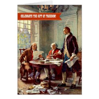 Carte Jour de la Déclaration d'Indépendance, 4 juillet