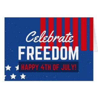 Carte Jour de la Déclaration d'Indépendance 4 juillet