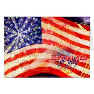 Carte Jour de la Déclaration d'Indépendance et 4 juillet