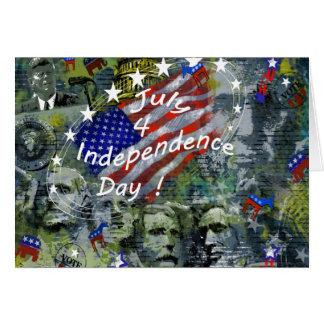 Carte Jour de la Déclaration d'Indépendance, le 4