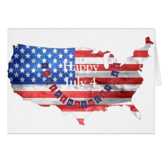 Carte Jour de la Déclaration d'Indépendance pays des