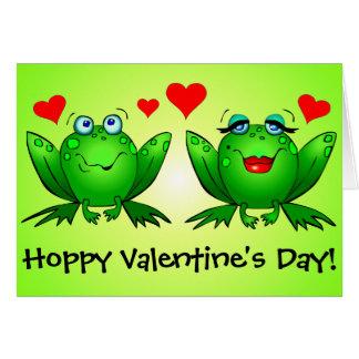 Carte Jour de Valentines de houblon drôle mignon de