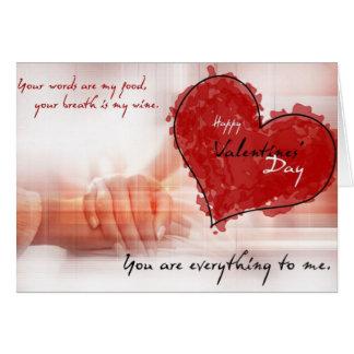 Carte jour de valentines heureux