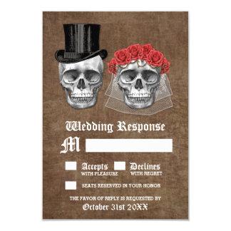 Carte Jour des couples morts de crâne épousant des