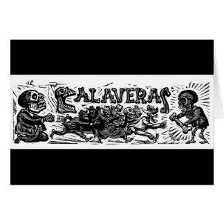 """Carte Jour des morts. """"Calaveras"""" C. Mexique 1951"""