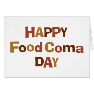 Carte Jour heureux de coma de nourriture