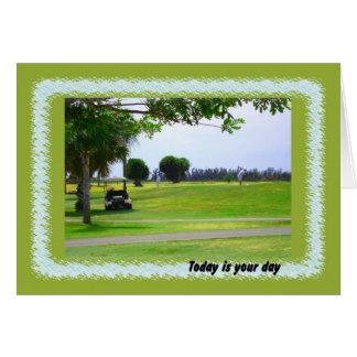 Carte Jour, terrain de golf et golfeur de Boses