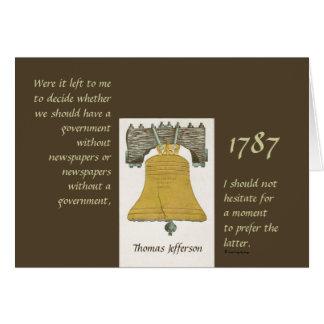 Carte Journaux et gouvernement Thomas Jefferson