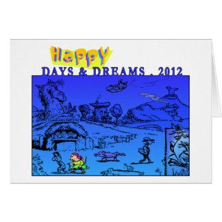 Carte Jours et rêves heureux 2012