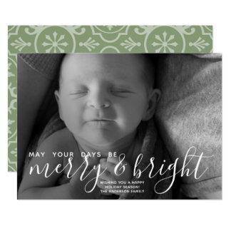 Carte Joyeuse et lumineuse calligraphie - pleine photo