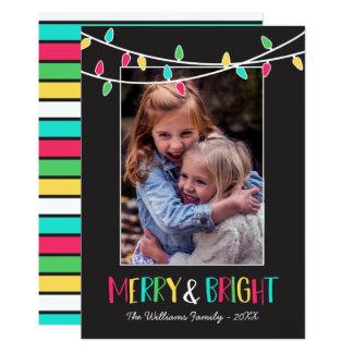 Carte Joyeuse et lumineuse - lumières colorées de