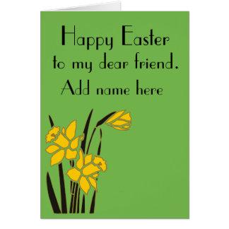 Carte Joyeuses Pâques, cher ami