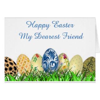 Carte Joyeuses Pâques. Le plus cher ami