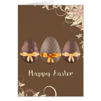 Carte Joyeuses Pâques, oeufs de Choco pâques