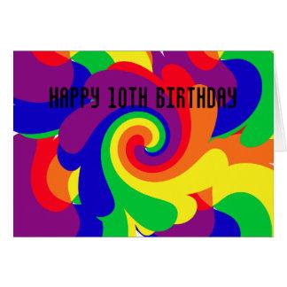 Carte Joyeux 10ème anniversaire