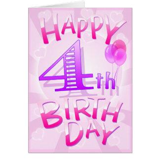 Carte Joyeux 4ème anniversaire