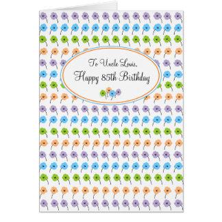 Carte Joyeux 85th anniversaire de fleurs minuscules