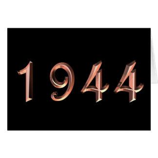 Carte Joyeux anniversaire 1944 ans d'années '40 des