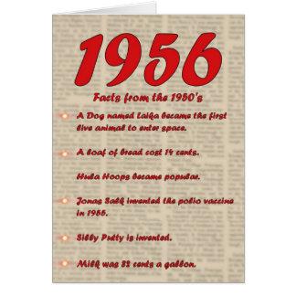 Carte Joyeux anniversaire 1956 ans des années 50 les