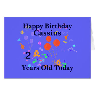 Carte Joyeux anniversaire 2 ans