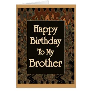 Carte Joyeux anniversaire à mon frère