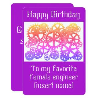 Carte Joyeux anniversaire à mon ingénieur féminin
