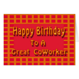 Carte Joyeux anniversaire à un grand collègue