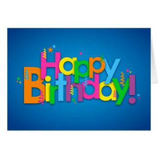 Carte Joyeux anniversaire - couleurs lumineuses