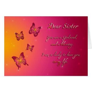Carte Joyeux anniversaire de chère soeur