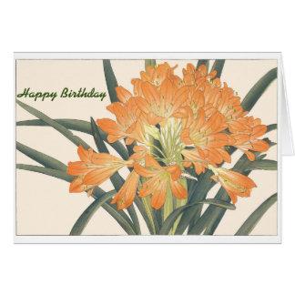 Carte Joyeux anniversaire de freesia