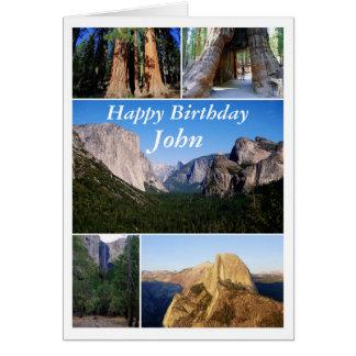 Carte Joyeux anniversaire de John, parc national de