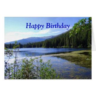Carte Joyeux anniversaire, lac bear, le Colorado