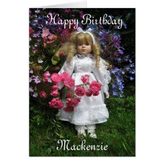 Carte Joyeux anniversaire le Mackenzie